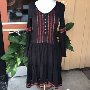 Free People Hi Lo Embroider Dress